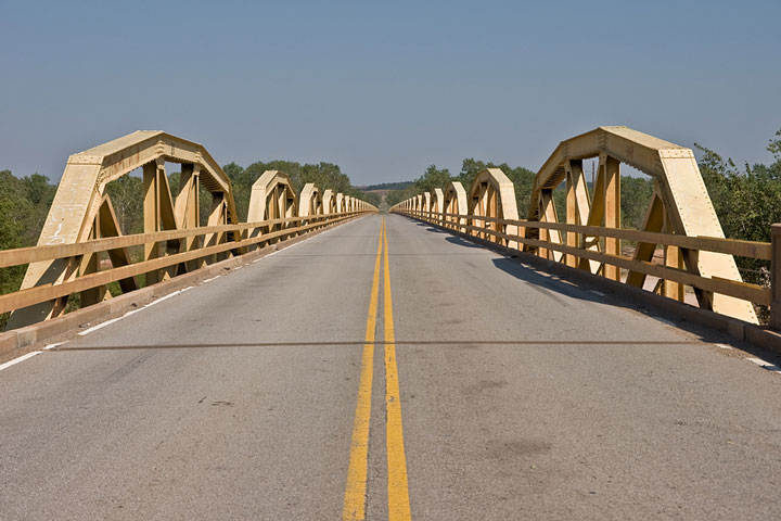 Pony Bridge roadway on Route 66 in Oklahoma