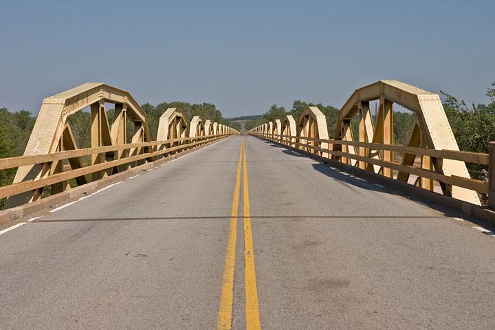 Pony Bridge roadway on Route 66 in Oklahoma