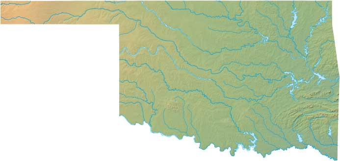 Oklahoma relief map